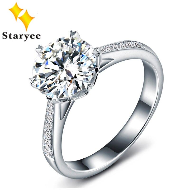 Сертифицированный один карат навсегда один Муассанит ювелирные изделия чистый 18 К Белое золото природных алмазов Для женщин свадебные Обр...