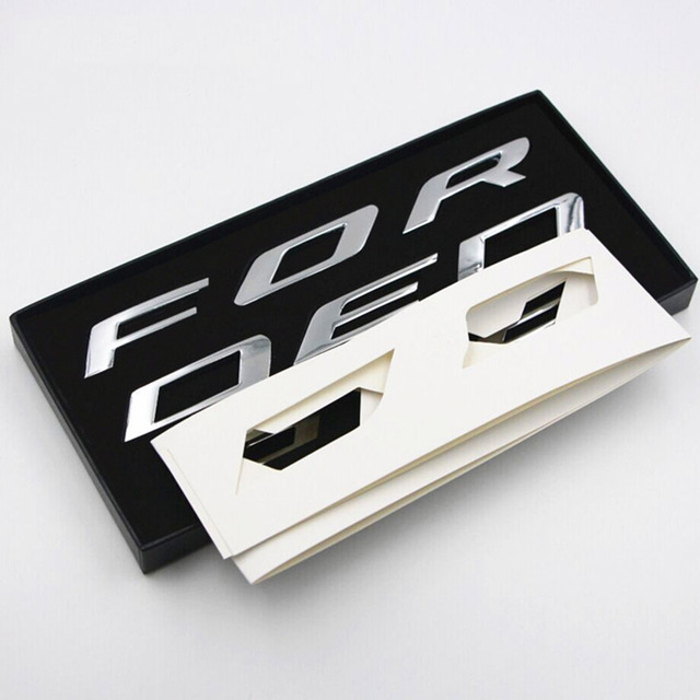 For   Ford Edge Accessories Car Metal Chrome Bonnet Hood D Logo Alphabet Sticker Emblem Car Styling