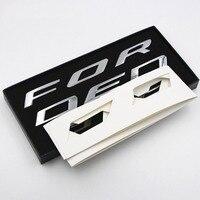 FOR 2014 2015 2016 2017 FORD EDGE ACCESSORIES CAR METAL CHROME BONNET HOOD 3D LOGO ALPHABET STICKER EMBLEM CAR STYLING