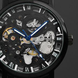 Image 2 - Winner Watch Men Skeleton Automatic Mechanical Watch Gold Skeleton Vintage Man Watch Mens Punk Watch Top Brand Luxury