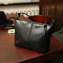 2016 New Fashion black Women messenger Bag Designer Handbags zipper Leather crossbody Handbags Women Famous Brands Shoulder Bag