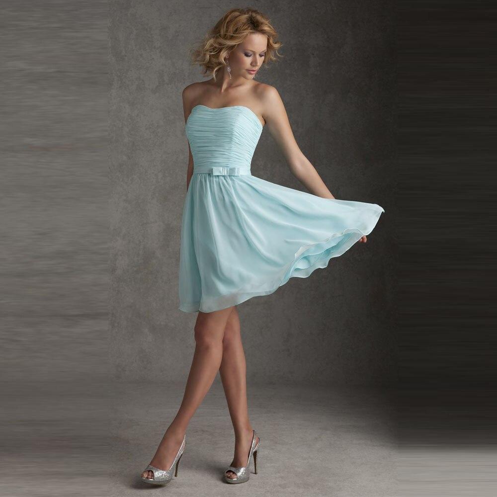 Popular Light Blue Bridesmaid Dresses-Buy Cheap Light Blue ...