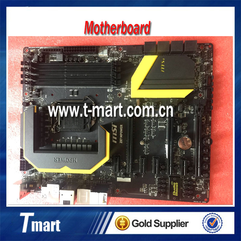 100% Working Desktop Motherboard MSI Z87 MPOWER MAX System Board Fully Tested And Perfect Quality g41 775 needle fully integrated motherboard 775u ddr3 100% tested perfect quality