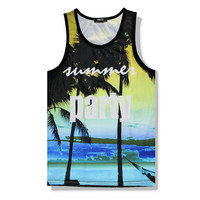 Hawaii Floarl Tank Top 3D Printed Summer Sleeveless Beach Vest Men S T Shirt Mesh Breathable