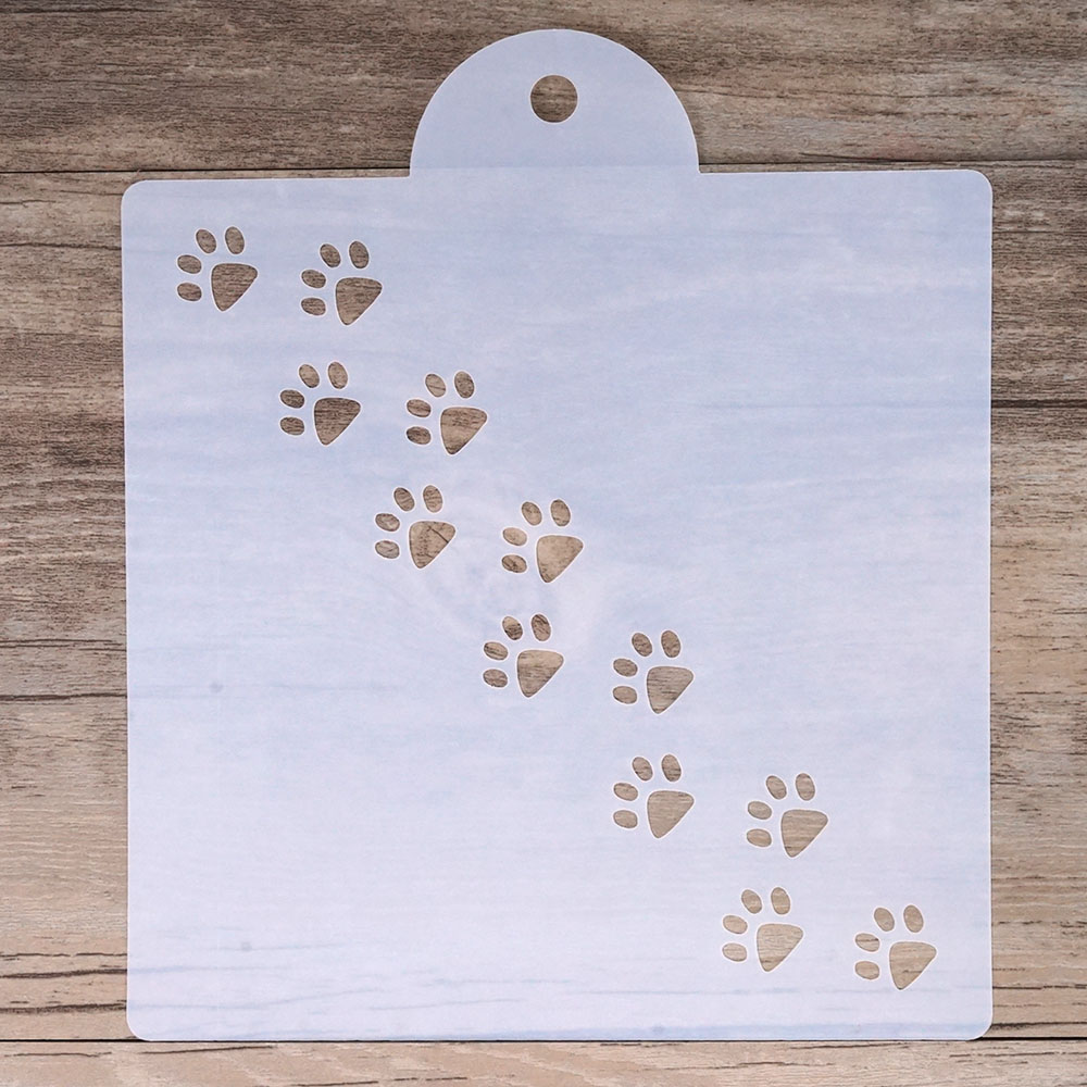 15 Cm DIY Craft Layering Paw Print Stencil For Wall Painting Scrapbooking Stamping  Album Decorative Embossing Paper Cards