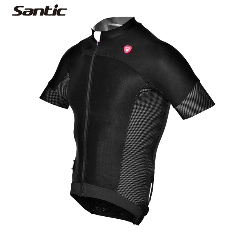 Santic Summer Cycling Jersey Men MTB Road Bike Bicycle Jersey Shirt Breathable Short Sleeve Downhill Skinsuit Maillot Ciclismo купить