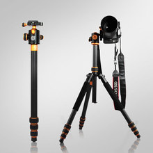 QZSD-Q1088C Profesyonel Karbon Fiber Tripod SLR Kamera Tripod + Ball Head Monopod Için Yüksek 167 CM Yük Kapasitesi 15 KG