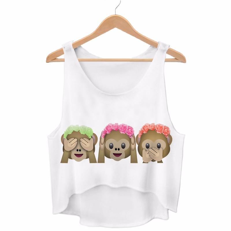 HTB1cuJJQFXXXXaVXFXXq6xXFXXXT - Aliens Harajuku Emoji Crop Tops BFF girlfiend gift ideas