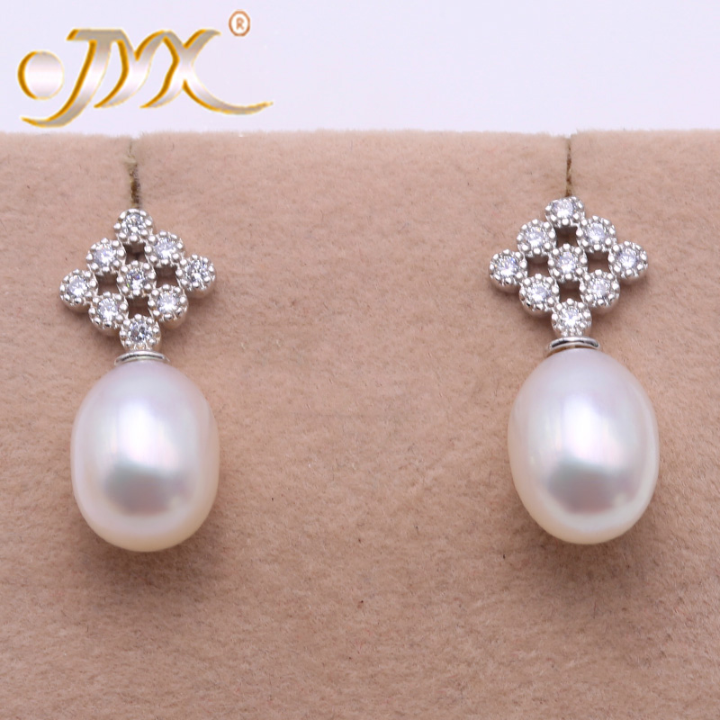 7-8mm rice pearl earrings,natural color pearl jewelry,silver  earrings,strong luster pearl earrings.