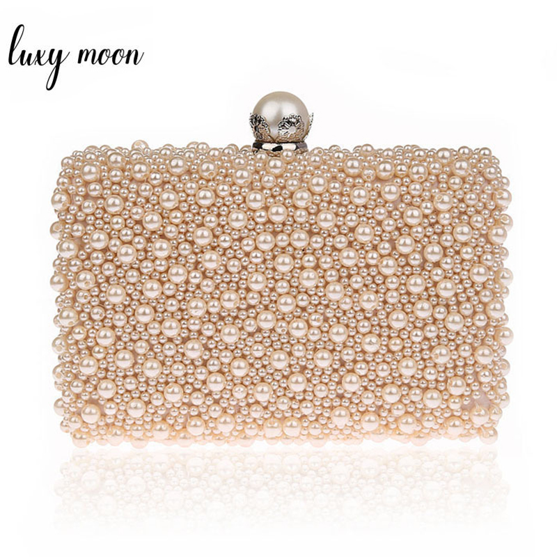 Detail Feedback Questions about LUXY MOON Full Pearls Evening Bags Beaded  Day Clutches Wedding Bride Mini Handbag Elegant Party Bag Chain shoulder  bags tote ...