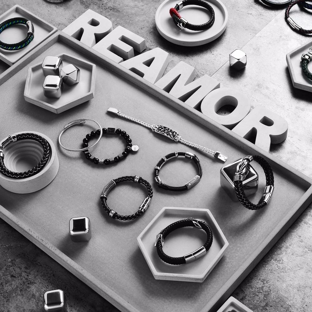 REAMOR 316l Stainless Steel Anchor Charms Bracelets byzylykë prej - Bizhuteri të modës - Foto 5