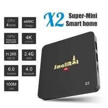 Android TV Box SmallRocket X2 TV Box Amlogic S905X Quad core 2G/8G Super-Mini 4K HD Mini PC TVMC Preinstall Support 2.4G Wifi