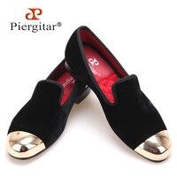 Plus Size Men Shoes New Metal Toe Black Velvet Men Slipper Flat Men Shoe Size US