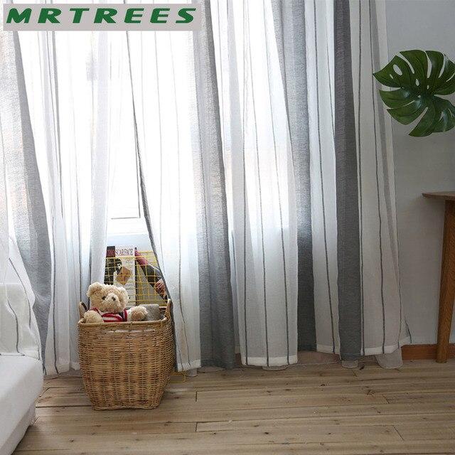 MRTREES Sheer Tende Della Finestra Tende per Soggiorno camera Da Letto Cucina Moderna Tende di Tulle Tessuto per il Trattamento di Finestra Tende
