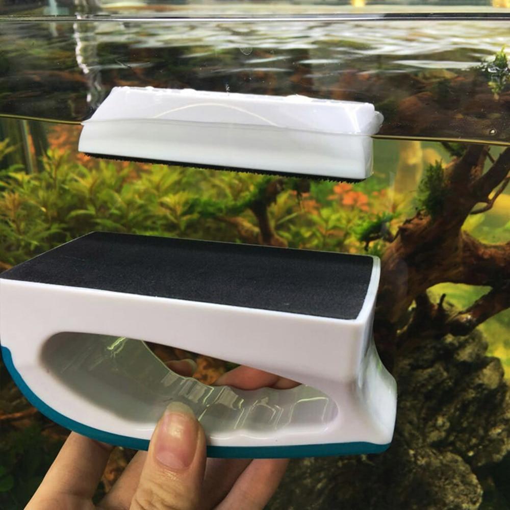 Magnetic Aquarium Fish Tank Brushes Floating Clean Glass