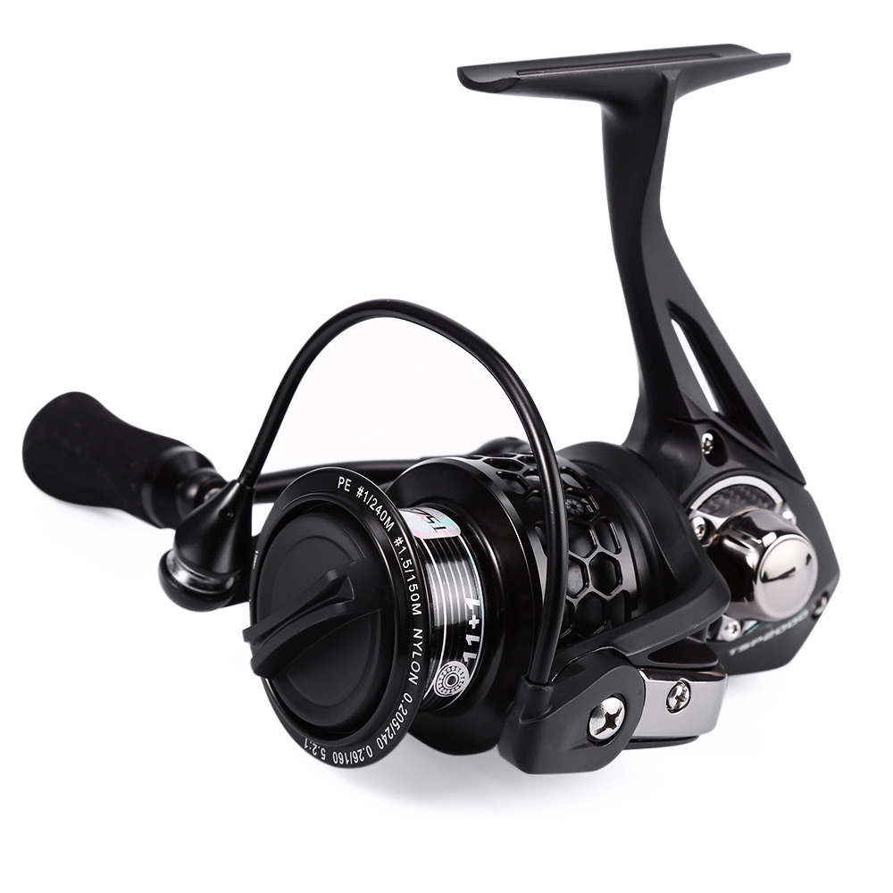 Trulinoya TSP2000 12BB Spinning Fishing Reel Freshwater SaltwaterFish Gear Fish Wheel For Little Jig Lure With Spare Spool