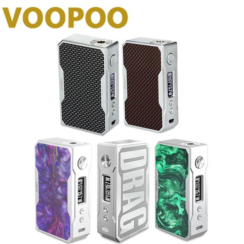 100% Original VOOPOO Drag Box Mod 157W TC Box Mod Electronic Cigarette 157W 18650 Battery 0.05-3.0ohm coil Battery Not included voopoo drag 157w tc box mod