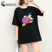 Summer Clothes Women Casual Donald Duck Mouse Cartoon Tops Tshirt Short Sleeve Tees Big Plus Size T Shirts