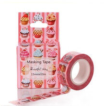 AAGU 15mm*10m Box Package Figure Cartoon Washi Tape Adhesive Stickers Flower Pattern Masking Tape Cheap Price Decorative Tape(China)
