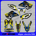 HUSQVARNA TE 125 250 300 FE 250 350 350S 450-501 501S 3M GRAPHICS  BACKGROUND DECALS STICKERS KITS  DIRT BIKE MOTORCYCLE
