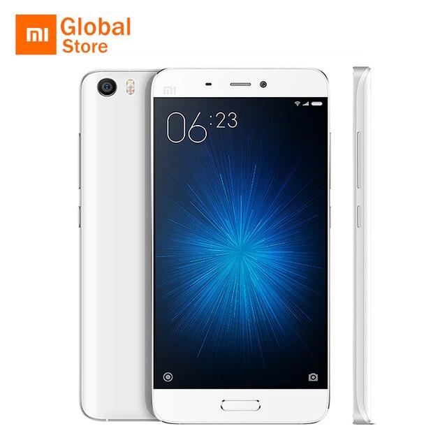 """Xiao Mi Mi5 M5 Mi 5 3 ГБ 64 ГБ Встроенная память мобильного телефона Snapdragon 820 5.15 """"FHD 16MP отпечатков пальцев ID NFC официальный Глобальный Встроенная память оригинальный"""