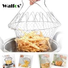 Expandable Fry Chef Basket Kitchen steamer Colander Magic Mesh Strainer Net Cooking Steam Rinse Strain