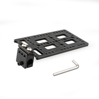CAMVATE Multi functional Battery Plate With Rod Clamp For Monitor Cage C1853