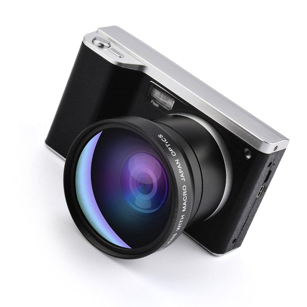4 pouces Ultra haute définition 24 millions de pixels 1080 P 12X Zoom optique Micro caméra unique IPS écran tactile reflex Camer