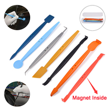 EHDIS Vinyl Car Wrap Magnetic Squeegee Tools Kit Sticker Tints Headlight Film Carbon Magnet Scraper Tool Set Accessories