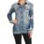 2016 nueva llegada Del Otoño mujeres outwear abrigos chaquetas de mezclilla de moda agujero sólido flojo ocasional femenino