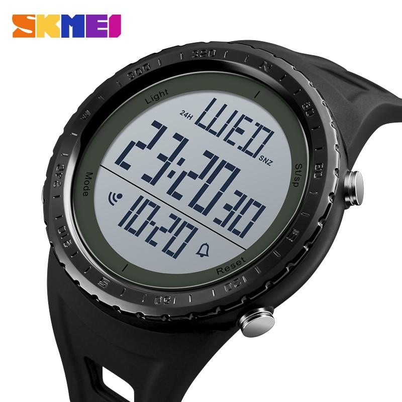 Pedometer Sport Watch Men Skmei Brand 50m Waterproof Led Digital Chrono Calories Alarm Outdoor Military Wristwatches Men's Watches Watches