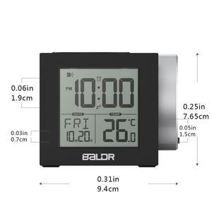 Image 4 - Baldr LCD Projeksiyon çalar saat Arka Işık Elektronik Dijital Projektör Izle masa Sıcaklık göstergesi ile 7 Renk