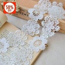 Горячая Распродажа 6 см цветок двойной высокий растворимый кружево вышивка кружево Материал для ручной работы сделай сам высокое качество