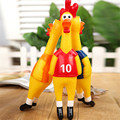 Funny Vent Long Neck Chicken European Cup football chicken Shrilling Chicken Sound Squeeze Screaming Toy Kids Child Nice Gift
