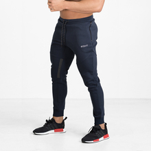 ФОТО men gyms pants 2017 casual elastic cotton mens fitness workout pants skinny,sweatpants trousers jogger pants