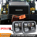 7x6 LED Проектор Фары 54 Вт Sealed Beam Замена Фары Crystal Clear sealed beam H4 Разъем Высокой ближнего света Пара