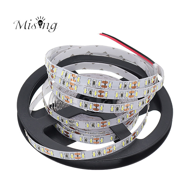 Mising 5M 600leds 4014 SMD LED Strip Flexible Ribbon Light DC12V 120W Super Bright Non-Waterproof White/Warm White Decoration