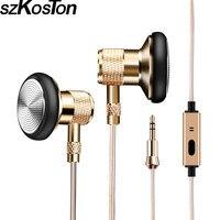 Wire Metal Earphone In Ear Micro Headset Super Clear Earbuds 1 25M Earphone Headfree For Phone