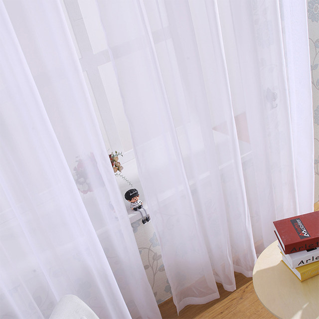 Online Shop iSINOTEX Window Curtain Voile Fabric White Solid ...