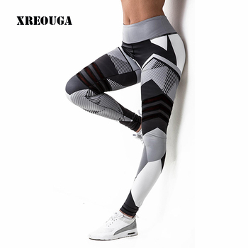 274cf8f774d41 XREOUGA Geometric Prints Fitness Yoga Pants Brand New Breathable  Compression Sportswear Exercise Running Training Gym Wear MLT06
