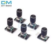 5 шт. KY-040 360 градусов Поворотный модуль кодировщика для Arduino макетной платы кирпичный переключатель с контактами с половинными отверстиями