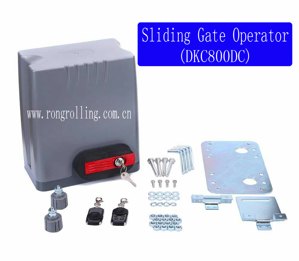 Sliding Gate Opener Motor Capacity 800KG Gate Weight DKC800DC 1set/lot economic sliding gate opener motor