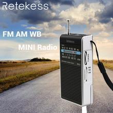 RETEKESS PR15 FM AM NOAA аварийного указатель настройка радио мини портативные радио портативное карманное радио приемник с погодой Предупреждение