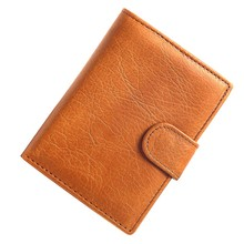 купить Genuine Leather Wallet Men RFID Men's Wallets with Coin Pocket Bifold Vintage Short Credit Card Holders Slim Leather Purses Male дешево