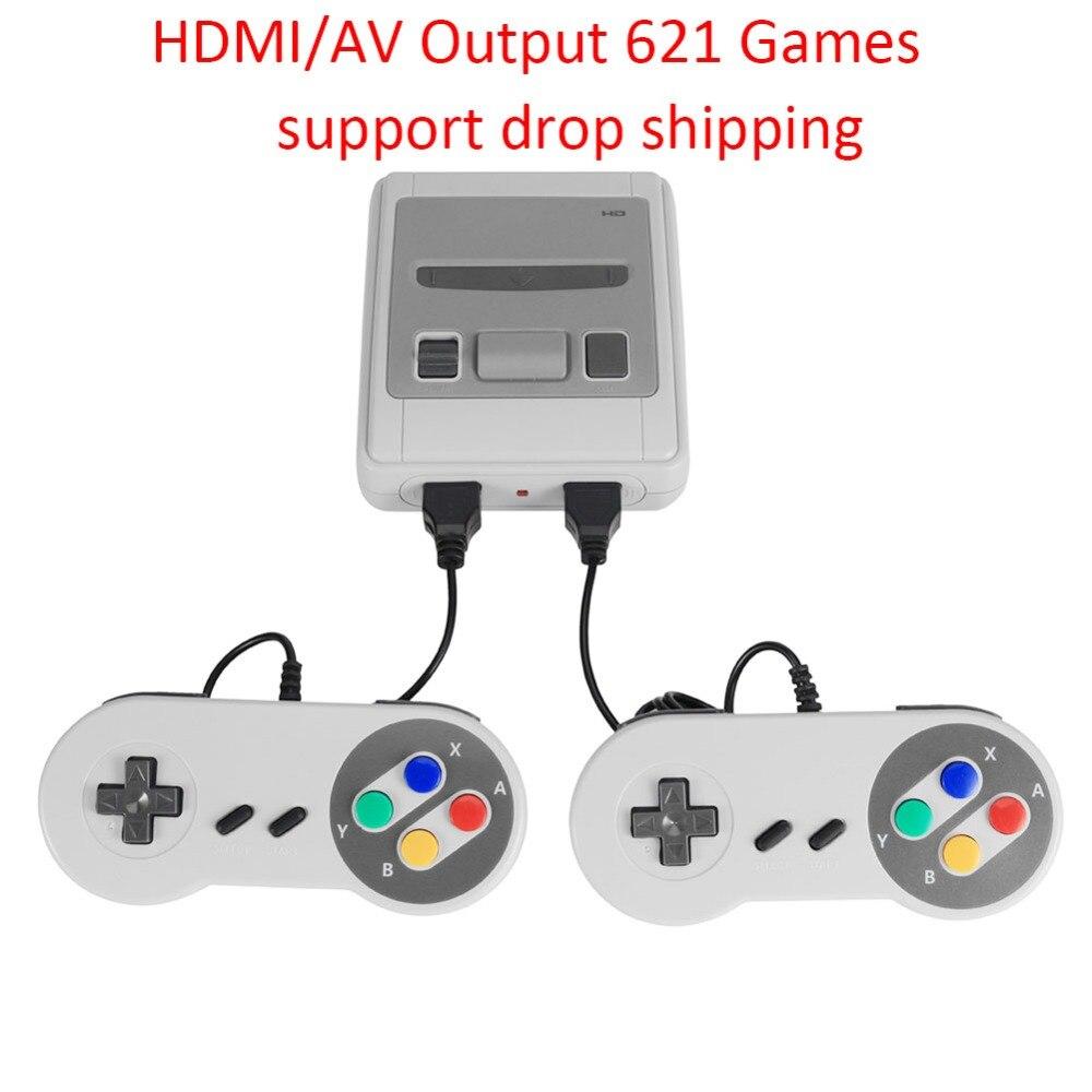 621 Jogos de Video Game Mini Clássico Da Infância 4K TV AV/HDMI 8Bit Consola de jogos Portátil Jogador Do Jogo Retro w/Gamepads Consola Retro