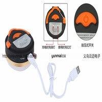 1800 mAh Banco de Potência Ímã 3 Modos de Luz de Acampamento Lanterna Recarregável Portátil LED USB Lâmpada Tenda Tenda Acessórios
