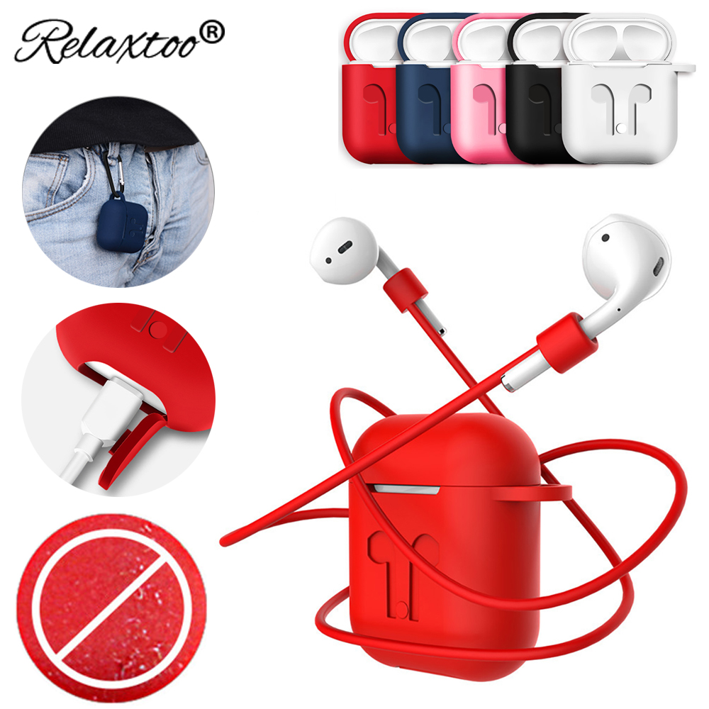 Soft Earphone Protective Case For Apple Airpods strap Silicone Thin headphone Case wireless bluetooth Earphone Cover accessories