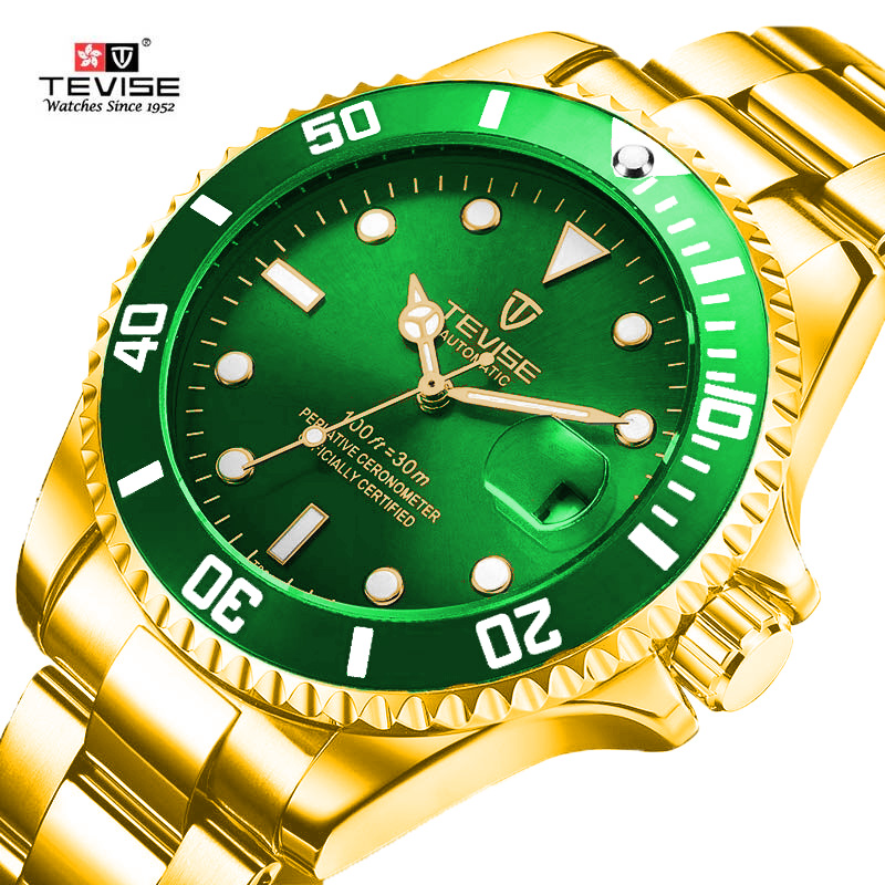 Men Mechanical Watches Automatic Sport Watch Gold Clock Male Reloj Hombre