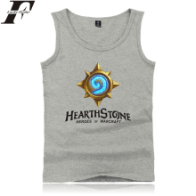 Kpop LUCKYFRIDAYF Hearthstone Tank Tops Game Anime Print Summer Sleeveless Print Kpop Men/Women Outwork Casual Clothes Plus Size цена