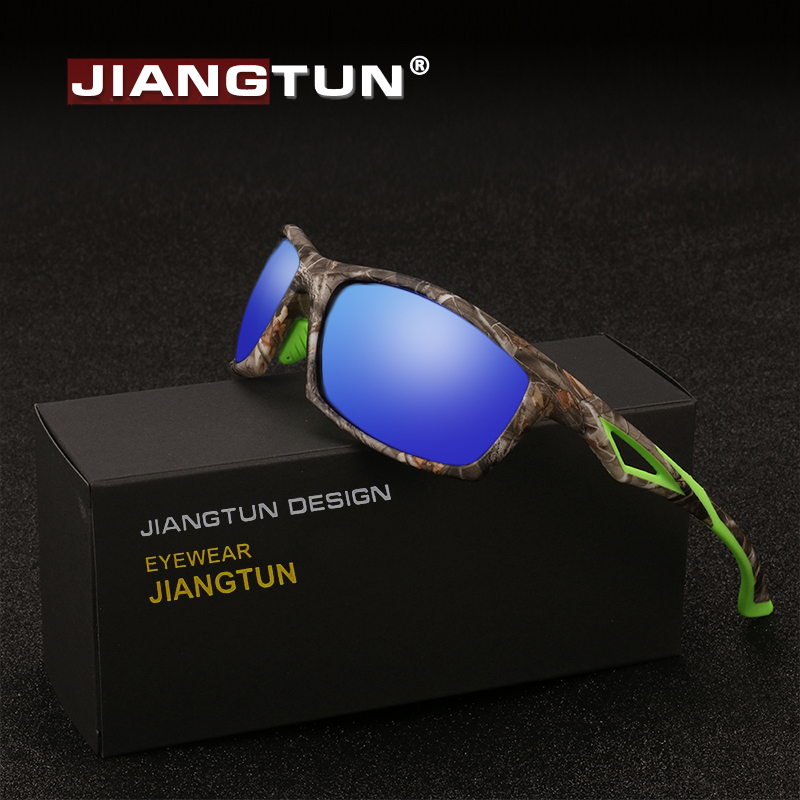 JIANGTUN Brand Camo Polarized Sunglasses 2018 New Mirror Reduce Glare Sun Glasses Top Quality TR90+Rubber Driving Shades